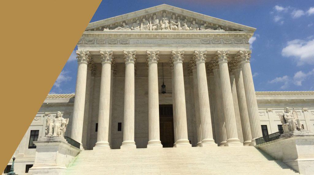 Outside view of the United States Supreme Court House
